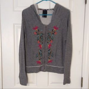 Anthropologie Dolan embroidered hoodie
